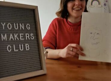 Virtual Young Makers: Blindfold Portrait drawing