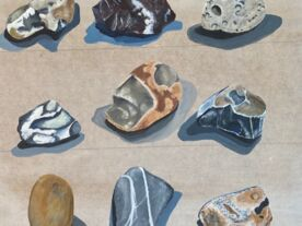 Studio Session: Still life drawing and painting from things found on Whitstable Beach